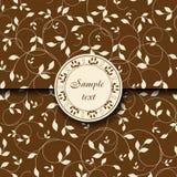 Vntage Floral postcard Royalty Free Stock Image