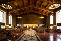 Väntande område Los Angeles för facklig station Arkivfoto