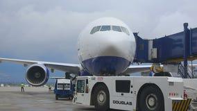 Vnukovo-Flughafenschutzblech stock video footage