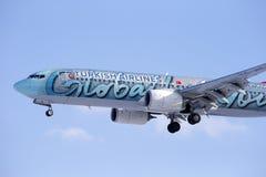 Boeing 737-800 TURKISH AIRLINES Royaltyfria Bilder