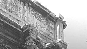 Voûte archivistique de Settimio Severo à Rome clips vidéos