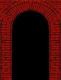 Voûte de brique rouge avec le noir   Image libre de droits