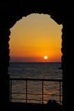 Voûte de coucher du soleil Photographie stock libre de droits