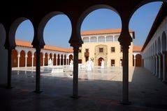 Voûte de croisé de vieux château de forteresse à Césarée Photos libres de droits