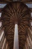 Voûte de l'église des jacobins à Toulouse. Image libre de droits