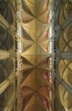 Voûte de la cathédrale gothique de Bourges Photos libres de droits