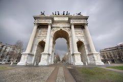 Voûte de paix, Milan photographie stock libre de droits