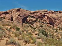 Voûte de paysage au parc national de voûtes en Utah Images stock