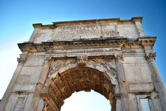 Voûte de Titus à Rome Image libre de droits
