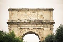 Voûte de Titus Rome, Italie photo stock