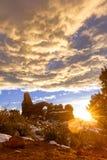 Voûte de tourelle au coucher du soleil photo libre de droits