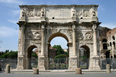 Voûte de triomphe - Rome Photographie stock