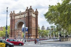 Voûte de Triumph à Barcelone, Espagne Photos libres de droits