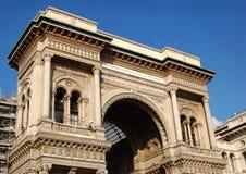 Voûte de Vittorio Emanuele II, Milan Image libre de droits