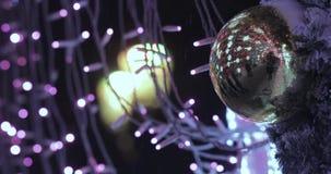 Voûte des illuminations de nouvelle année banque de vidéos