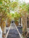 Voûte en bambou - vues du Curaçao de secteur de Petermaai photographie stock