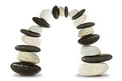 Voûte en pierre noire et blanche Photographie stock