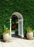 Voûte et chemin de jardin Photos stock