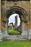 Voûte normande à la ruine d'abbaye de Bylands photographie stock