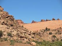 Voûte sensible au stationnement national de voûtes en Utah Images stock