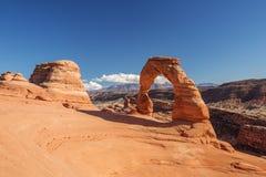 Voûte sensible en parc national de voûtes en Utah, Etats-Unis Photographie stock