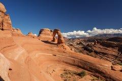Voûte sensible en parc national de voûtes en Utah, Etats-Unis Image libre de droits