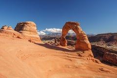 Voûte sensible en parc national de voûtes en Utah, Etats-Unis Photos libres de droits