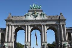 Voûte triomphale à Bruxelles images libres de droits