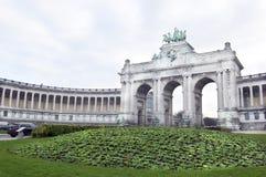 Voûte triomphale de Bruxelles images stock