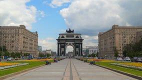 Voûte triomphale de Moscou banque de vidéos