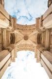 Voûte triomphale de Rua Augusta au centre historique de la ville de Lisbonne au Portugal image libre de droits