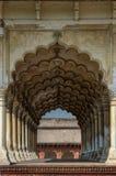Voûtes architecturales dans le fort rouge de Delhi photos stock