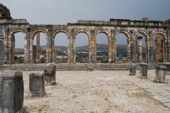 Voûtes aux ruines de temple Photographie stock