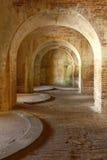 Voûtes de l'intérieur 1800 de fort Photos libres de droits