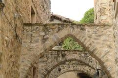 Voûtes en pierre médiévales Photographie stock