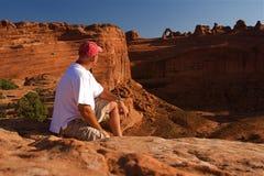 Voûtes rouges de roche Image libre de droits