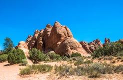 Voûtes stationnement national, Utah Roches et désert Image stock