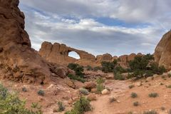 Voûtes stationnement national, Utah photo stock