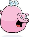 Vôo cor-de-rosa do porco Imagem de Stock Royalty Free