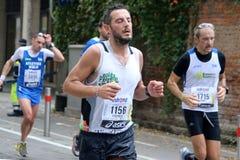 28vo cuarto Venicemarathon: el lado aficionado Imágenes de archivo libres de regalías