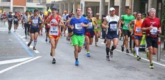 28vo cuarto Venicemarathon: el lado aficionado Foto de archivo libre de regalías