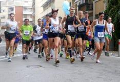 28vo cuarto Venicemarathon: el lado aficionado Fotos de archivo libres de regalías