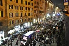 8vo de la demostración Roma de la derecha del ` s de las mujeres de la marcha Foto de archivo libre de regalías