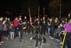 8vo de la demostración Roma de la derecha del ` s de las mujeres de la marcha Imagen de archivo