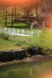 Voûte décorée pour la cérémonie de mariage Photographie stock libre de droits