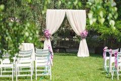 Voûte de cérémonie de mariage Photo stock