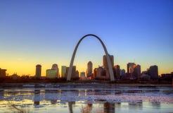 Voûte de Gateway de St Louis photo libre de droits