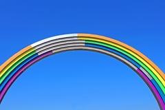 Voûte de l'amitié des peuples, peinte en couleurs de l'arc-en-ciel, en vue du concours Eurovision-2017 de chanson Photos libres de droits