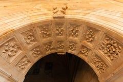 Voûte de la Renaissance dans le couvent de San Esteban de Salamanque image stock