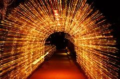 Voûte de lumière de Noël Photo stock
